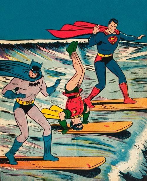 vintage-1964-comic-art-of-batman-superman-and-robin-surfing.jpeg