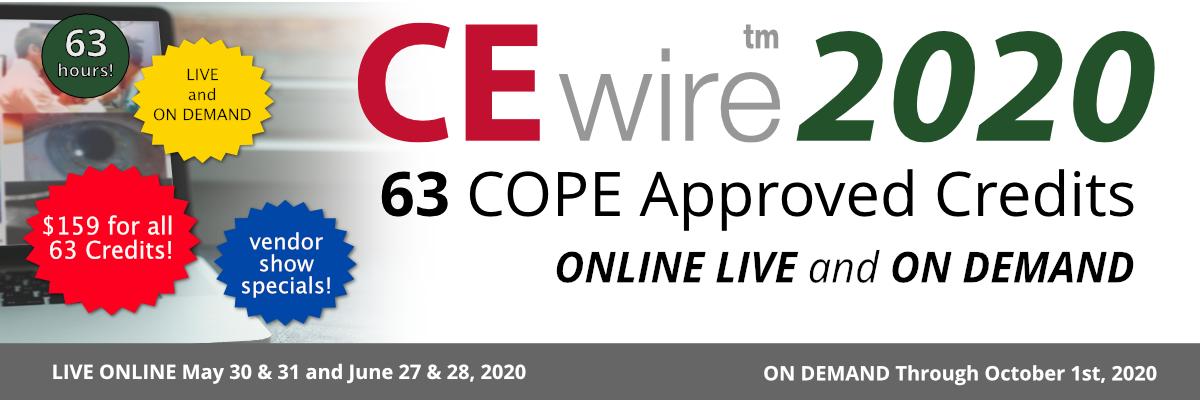 CEwire2020: 63 COPE Credits, $159